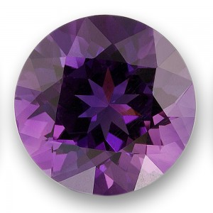 Amethyst is the birthstone for February. Image courtesy of the American Gem Trade Association.